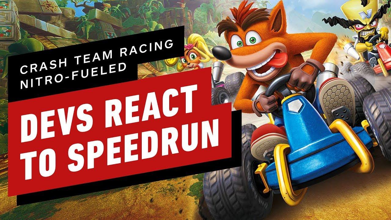 Crash Team Racing Nitro-Fueled Developers React to 47 Minute Speedrun
