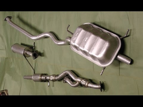 Replaced exhaust system on 2002 Hyundai Santa Fe  YouTube