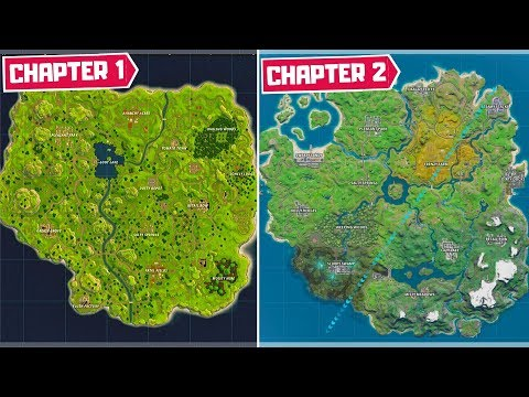 Evolution Of The Entire Fortnite Map! (Chapter 1 Season 1 - Chapter 2 Season 1)