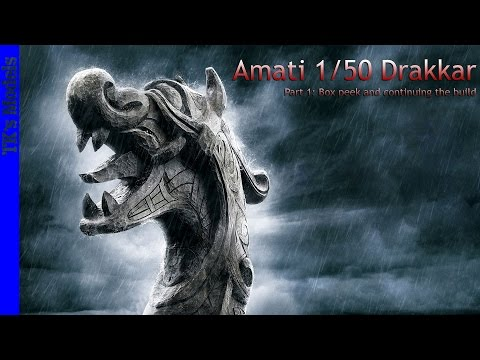 "Amati Viking ship ""Drakkar"" part 1 - Box peek and continuing the build"