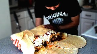 Repeat youtube video 12lb Monster Burrito (9,230 Calories)