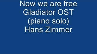 Mercuzio Pianist - Now we are free - Gladiator OST (piano solo) Music by Hans Zimmer