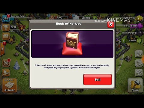 How To Use BOOK OF HEROES ||CLASH OF CLANS ||HINDI