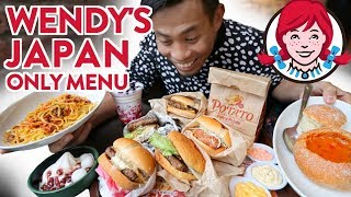 Trying Japan Wendy's First Kitchen Japan Only Menu | Japanese Fast Food