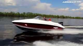 Ходовое видео алюминиево-пластиковой лодки Absolut 190