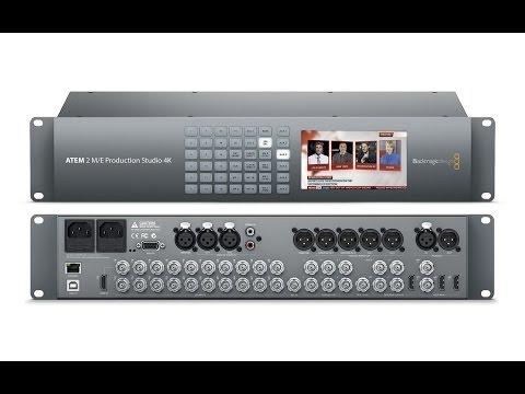 Tutorial Blackmagic Design ATEM 2 M/E Production Studio 4K ITA Television Studio