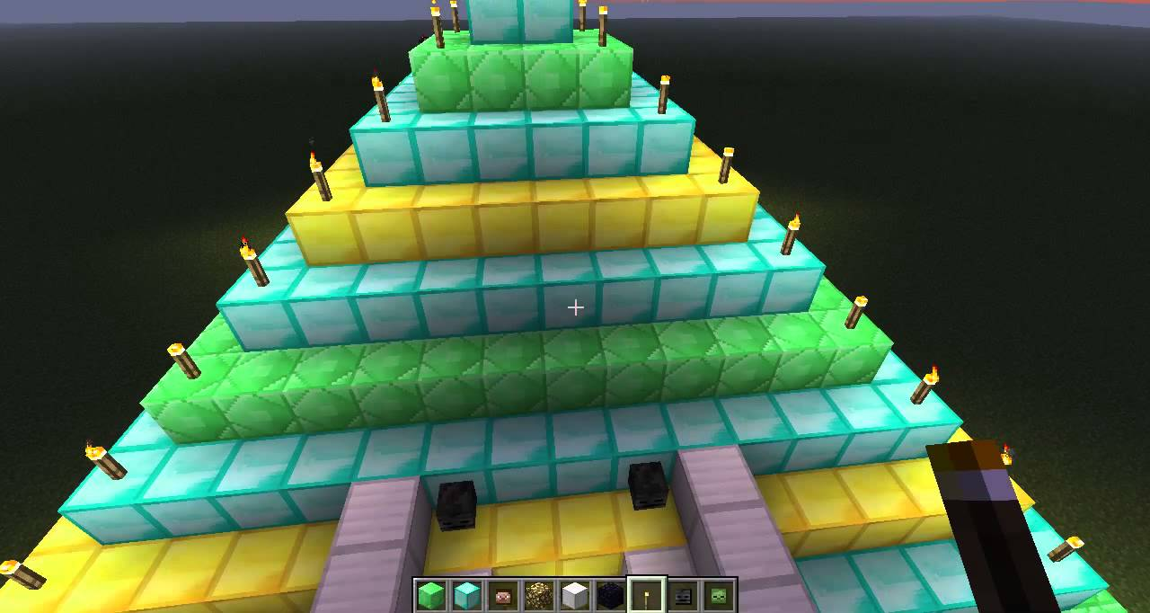 Please Let Me Know If You Are The: Minecraft Emerald, Diamond, Gold, Iron Pyramid