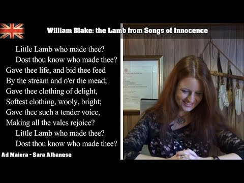 English Literature | William Blake (Part 1 of 2) | The Lamb (Songs of Innocence)