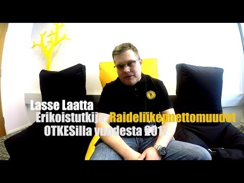 """""""Minä olen OTKES"""" – esittelyssä raideliikenneonnettomuuksien erikoistutkija Lasse Laatta"""