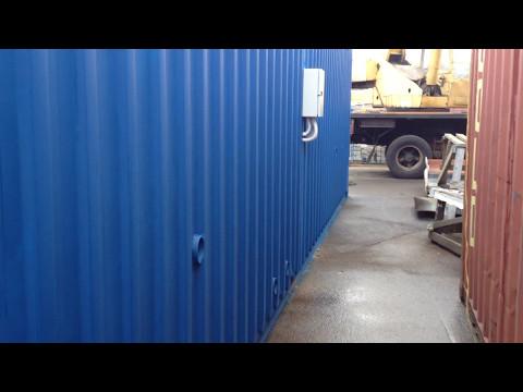 видео: Переоборудование морского контейнера 40 футов hc pw в лабораторию
