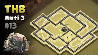 Clash of Clans ⚫ TH8 Anti 3 Star War Base #13 ⚫ No CC Lure ⚫ Dead Zone