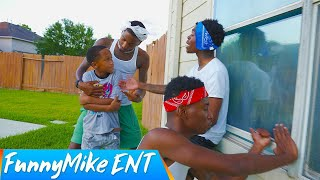 13 Year Old Kid PEER PRESSURED By THUGS, Breaks into His FRIENDS House   FunnyMike Skits