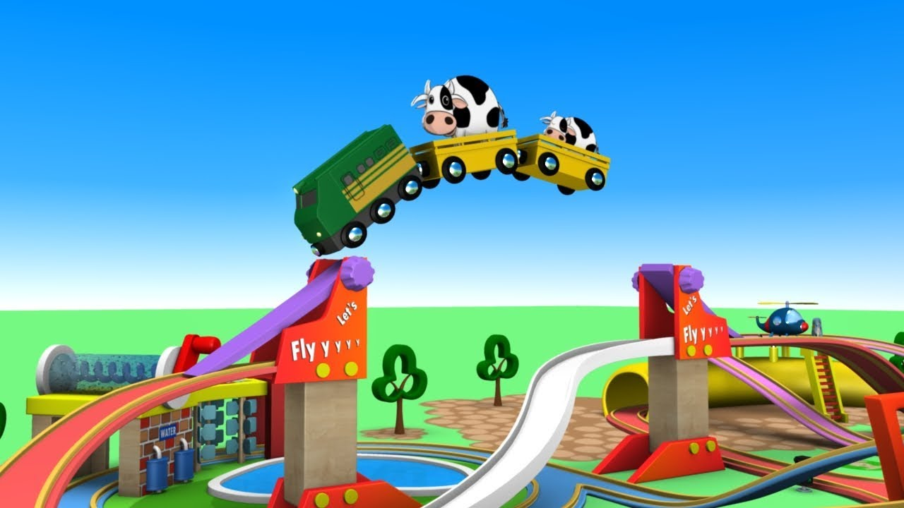 Let's Play - Toy Factory Trains - Chu Chu Train Cartoon - Trains for Kids - Choo Choo Train - T