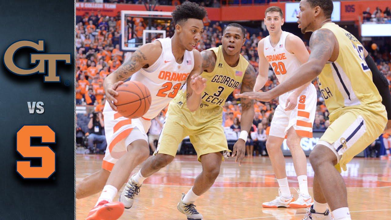 Georgia Tech vs. Syracuse Basketball Highlights (2015-16)