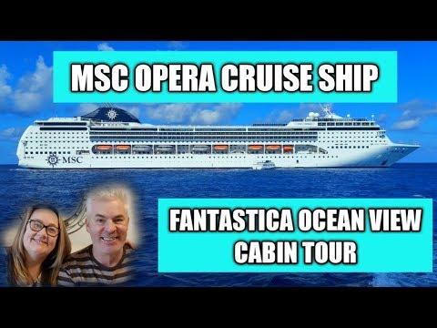 MSC Opera Cruise Ship Fantastica Ocean View Cabin 8251