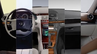 Mercedes E-class 2016 - the evolution of the interior from w123 to w213