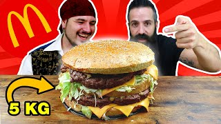 BIG MAC de 5kg estilo MCDONAL´S | Si PIERDO me como un HABANERO ENTERO | El Pirata VS Joe Burger