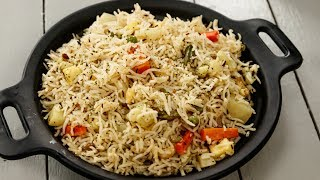 खुला खुला पुलाव की आसन रेसिपी - veg pulav restaurant style pulao recipe - cookingshooking