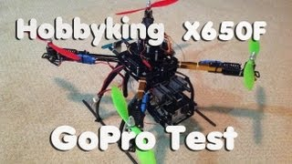 X650F Quadcopter Testing with GoPro Hero 3