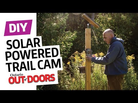 DIY solar-powered trail cam