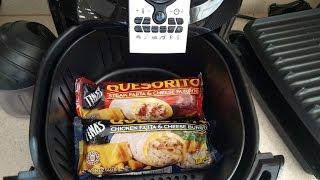 Air Fryer Tinas Quesorito chicken steak fajita & cheese burrito