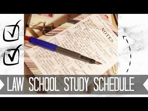 LAW SCHOOL   Study Schedule Organization Tips & Memorization Advice   J Wong