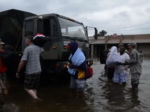 National Guard Rescues Residents from Louisiana