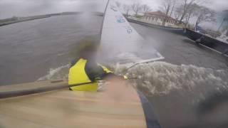 Extreme Dutch Finn sailing