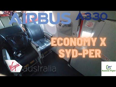 Virgin Australia Economy X Airbus A330-200 ✈️ Sydney To Perth VA551