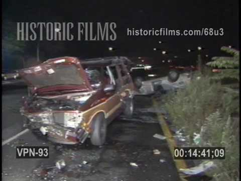 MULTI VEHICLE AUTO ACCIDENT, GRAND CENTRAL PARKWAY AT JEWEL AVE, QUEENS, NEAR FOREST HILLS - 1988