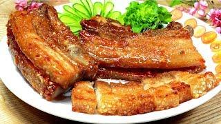 Cách làm thịt heo chiên nước mắm da giòn thịt mềm ngọt rất là ngon
