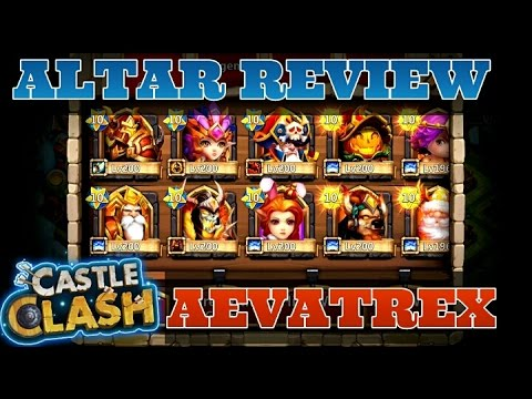 Castle Clash Heroes Altar Review! Aevatrex Account!