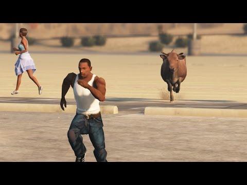 GTA San Andreas Loquendo - CJ en GTA V (PARTE 4)