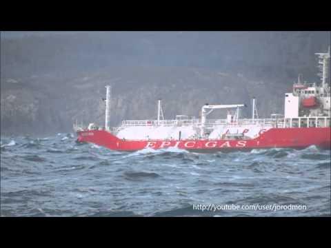 LPG Tanker EPIC ST CROIX leaving A Coruña