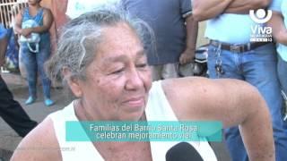 Familias del Barrio Santa Rosa celebran mejoramiento vial
