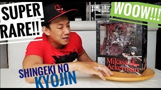 GIVEAWAY!!! UNBOXING SUPER RARE MIKASA ACKERMAN ATTACK ON TITAN!!