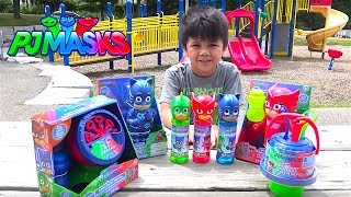 PJ MASKS Bubbles Opening Fun Playtime At The Park With Gekko, Owlette & Catboy TBTFUNTV