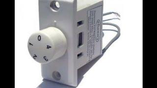 Connection of fan regulator in switch board
