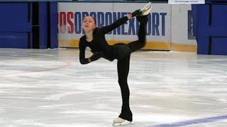 Софья Самоделкина Произвольная программа Девушки Контрольные прокаты по фигурному катанию 2020 21