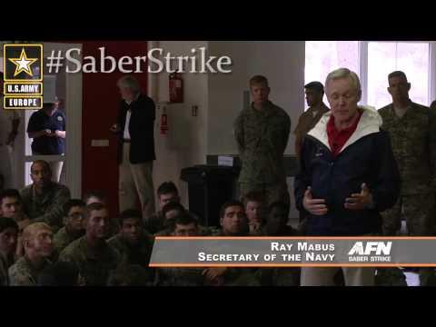 Saber Strike SecNav visit