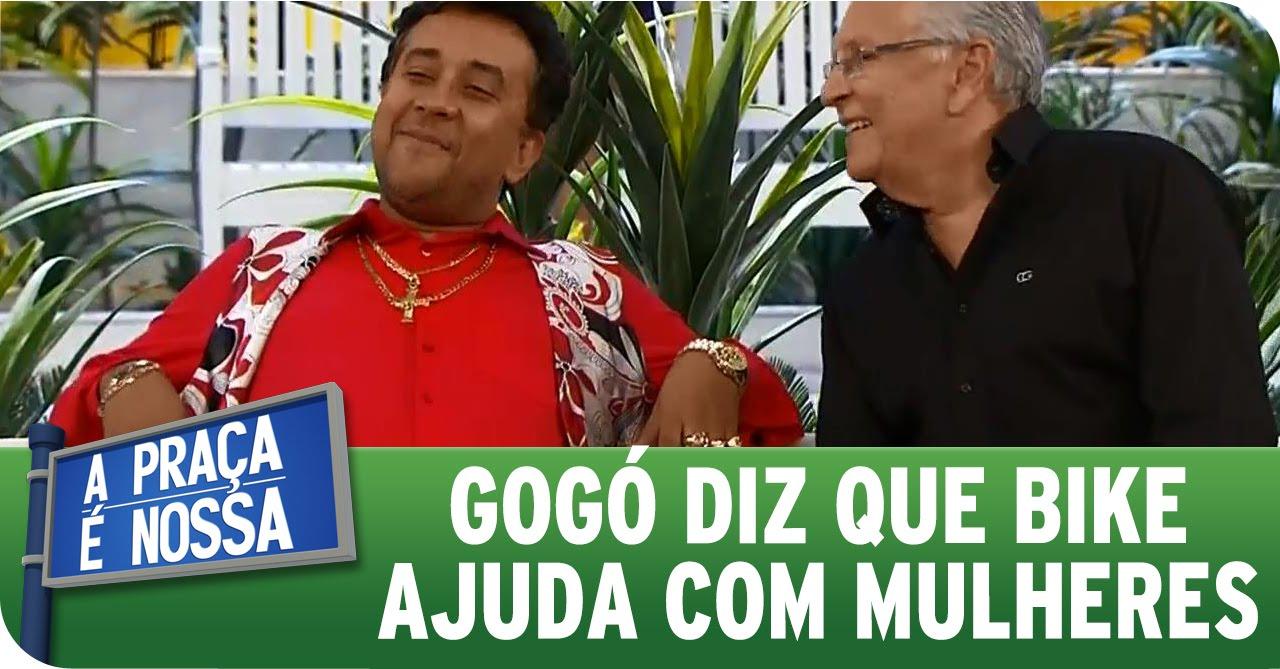 A Praça É Nossa (27/08/15) - Paulinho Gogó diz que bike ajuda com mulherada