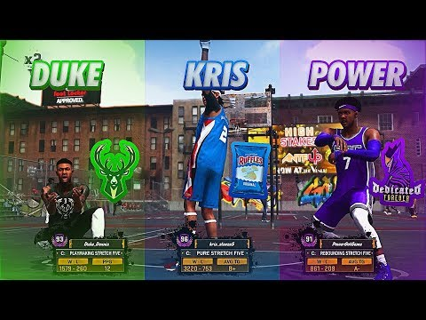 THE BEST STRETCH BIGS ON NBA 2K18 COME TOGETHER TO TAKE OVER MYPARK! 7'3 DEMIGODS CANT BE STOPPED!