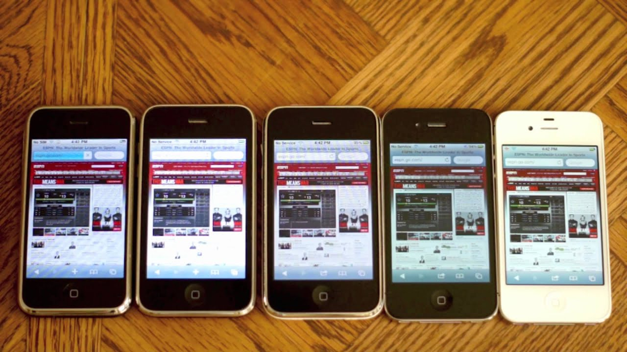 IPhone Speed And Camera Comparison Test 2G Vs 3G 3GS 4 4S