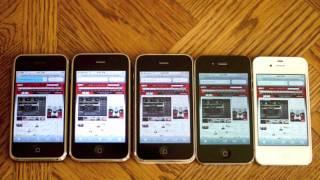 iPhone Speed and Camera Comparison Test (2G vs 3G vs 3GS vs 4 vs 4S)