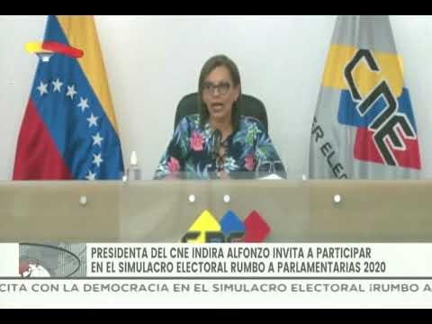 Presidenta del CNE invita a simulacro de votación este domingo: Instalado el 100% de las máquinas