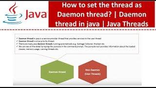 How to set the thread as Daemon thread Daemon thread in java Java Threads