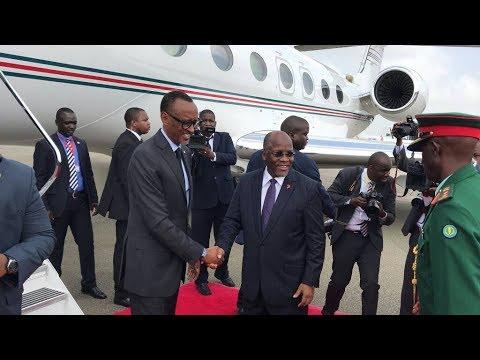 Rais wa Rwanda, Paul Kagame Alivyopokelewa na Rais Magufuli