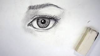 How to draw a realistic eye in 5 steps - beginner tutorial