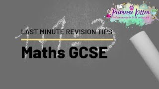 Last Minute Revision Tips for GCSE Maths