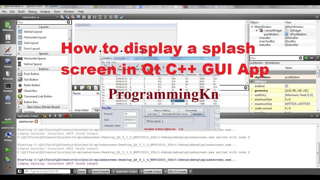 QT C++ GUI Tutorial 28- How to display a Splash Screen in Qt
